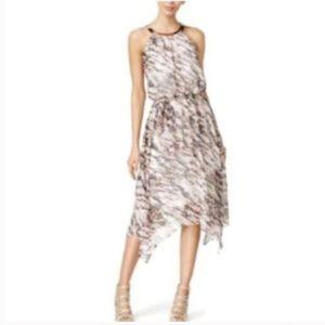 Thalia Sodi Printed Chiffon Handkerchief Dress a40